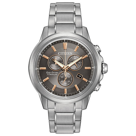 Citizen Eco-Drive Titanium Mens Watch AT2340-56H