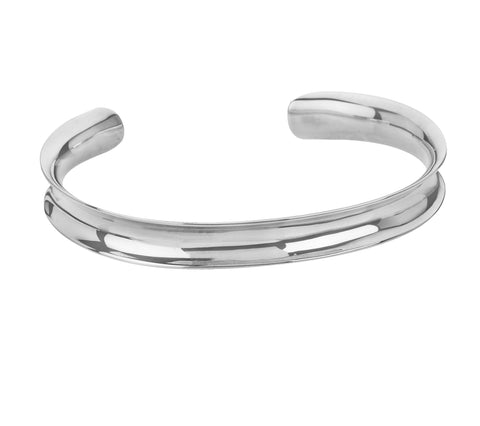 Tianguis Jackson Sterling Silver Concave Torque Bangle BT0505 0401136