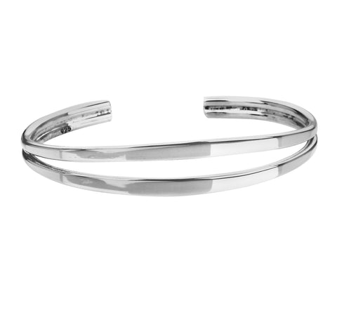 Tianguis Jackson Sterling Silver Double Band Torque Bangle BT0872 0401141
