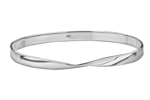 Tianguis Jackson Sterling Silver Twist Slave Bangle BT1846 0401149
