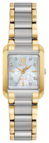 Citizen Ladies Eco Drive Two Tone Watch EW5554-58D 1003355