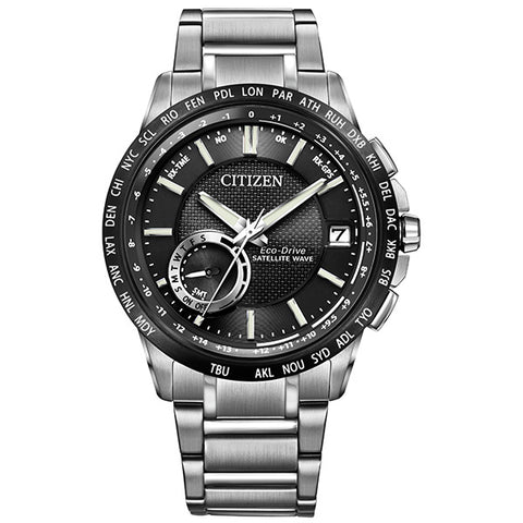 Citizen Eco-Drive Satellite Wave World Time GPS Mens Watch CC3005-85E