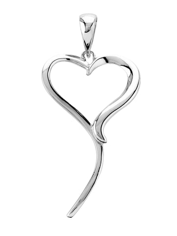 Tianguis Jackson Sterling Silver Open Heart Pendant CP0374 0402299