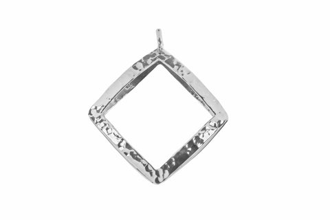 Tianguis Jackson Sterling Silver Open Rhombus Pendant CP1053 0402308