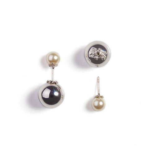Kasun London Orb & Pearl Stud Earrings E068SW 4403013 Sale
