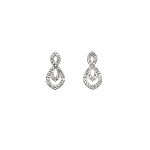 Hot Diamonds Harmony White Topaz Earrings DE609