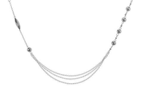 Tianguis Jackson Sterling Silver Bead Necklace CN0809 0404041