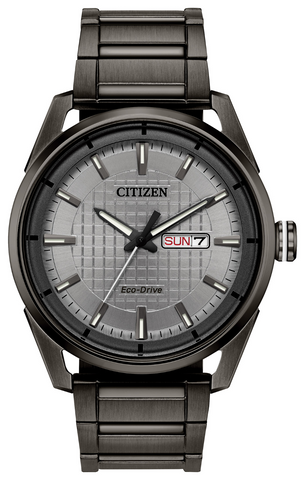 Citizen Mens Eco Drive Grey Bracelet Watch AW0087-58H 1003339