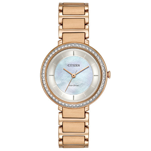 Citizen Eco-Drive Silhouette Crystal Ladies Watch EM043-54D