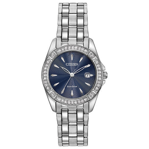 Citizen Eco-Drive Silhouette Crystal Ladies Watch EW2350-54L