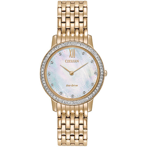 Citizen Eco-Drive Silhouette Crystal Ladies Watch EX1483-50D