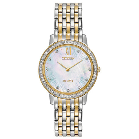Citizen Ladies Eco-Drive Silhouette Crystal Ladies Watch EX1484-57D