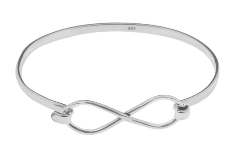 Tianguis Jackson Sterling Silver Infinity Bangle BT2146 0401228