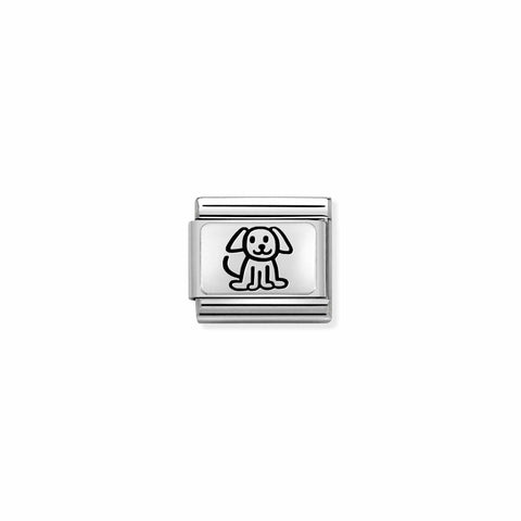 Nomination Silver Dog Charm 330109 52