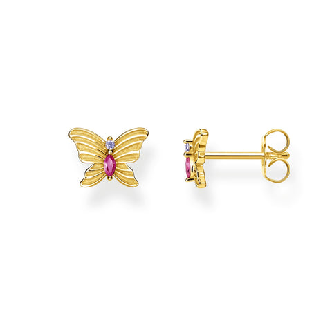Thomas Sabo Gold Butterfly Stud Earrings H2100-995-7