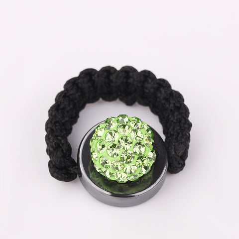 Tresor Paris - Shamballa Green Crystal Ring
