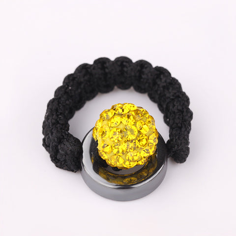Tresor Paris - Shamballa Yellow Crystal Ring