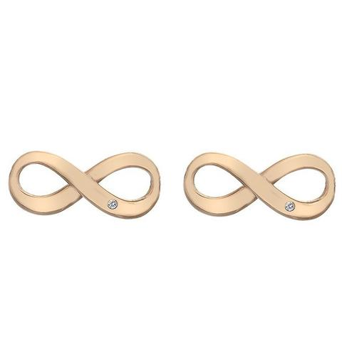 Hot Diamonds Rose Gold Infinity Stud Earring DE472 2003207
