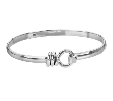 Tianguis Jackson Sterling Silver Hook Bangle BT0951 0401223