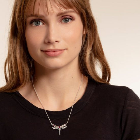 Thomas Sabo Large Dragonfly Necklace KE1838-998-7-L45V