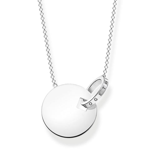 Thomas Sabo Together Forever Large Coin Necklace KE1948-637-21