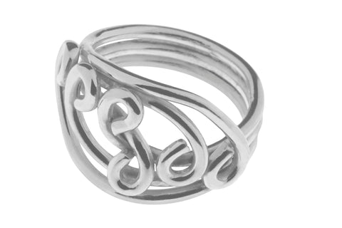 Tianguis Jackson Sterling Silver Swirl Ring R0917 0408051
