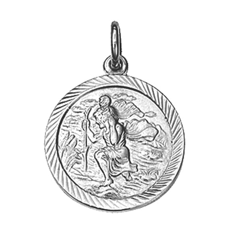 Sterling Silver 20mm St Christopher Pendant P9338S37 0402341