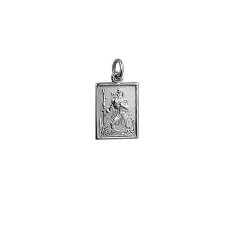 Sterling Silver Rectangle 19x14mm St Christopher Pendant P9656S00 0402342