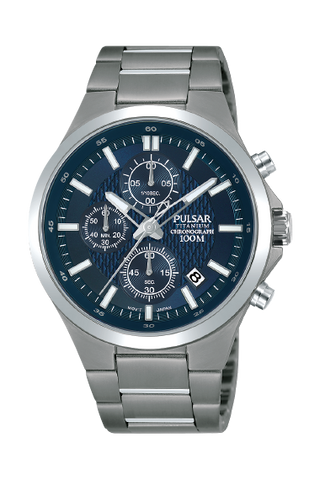 Pulsar Gents Chrono Titanium Bracelet Watch PM3109X1 1005145