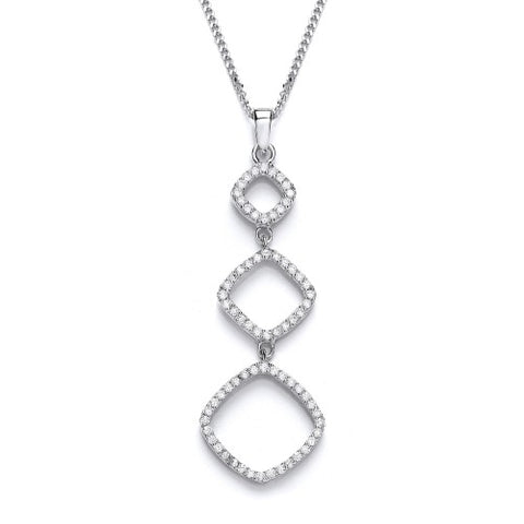 Purity 925 Sterling Silver & Cubic Zirconia Pendant PUR3690P