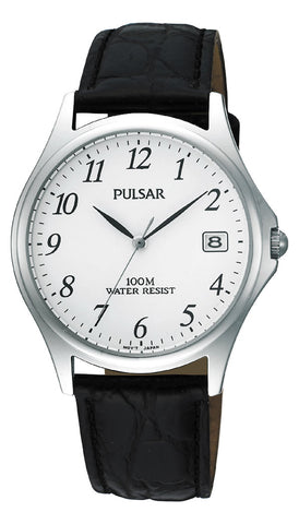 Pulsar Classic Gents Watch with Black Leather Strap PXH565 1005019