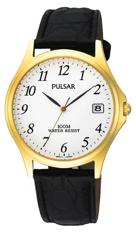Pulsar Classic Gents Watch with Black Leather Strap PXH566 1005038
