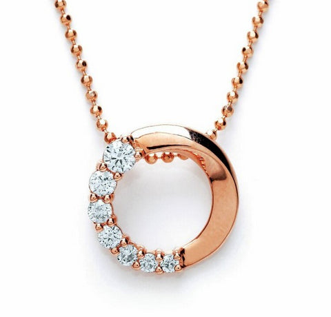 Purity 925 Rose Gold Plated & Cubic Zirconia Pendant PUR3609P