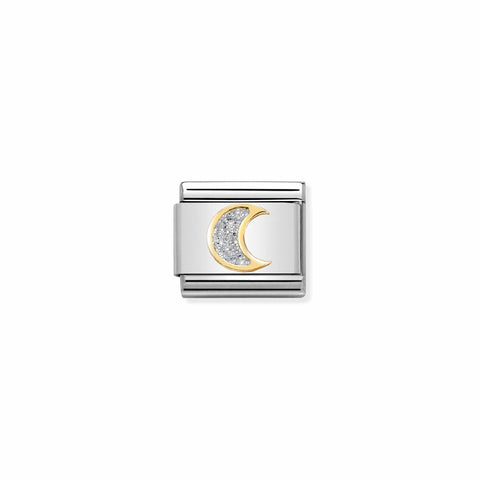 Nomination 18ct Gold & Glitter Moon Crescent Charm 030220 05