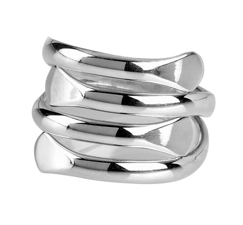 Tianguis Jackson Sterling Silver Expandable Multi Band Ring R0331 0408024
