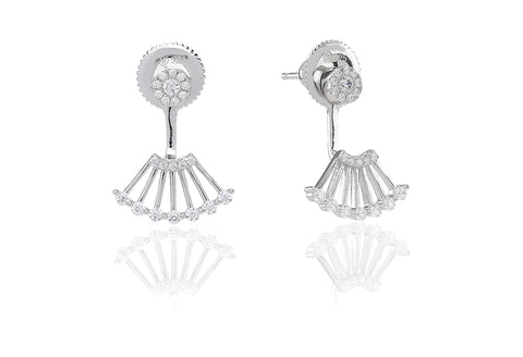 Sif Jakobs - Ravenna Uno Sterling Silver with White CZ Earrings SJ-E0604-CZ 4003017