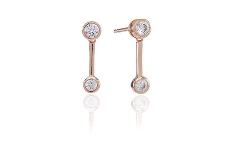 Sif Jakobs - Sardinien Uno Rose Gold with White CZ Earrings SJ-E0725-CZ(RG) 4003393