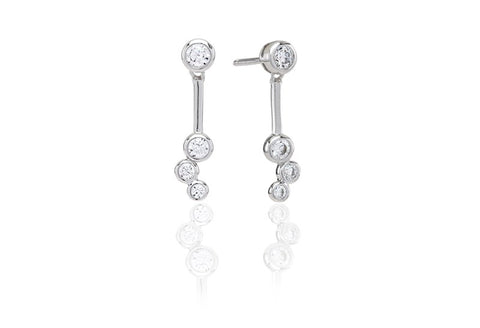 Sif Jakobs - Sardinien Tre Sterling Silver with White CZ Earrings SJ-E0728-CZ 4003391
