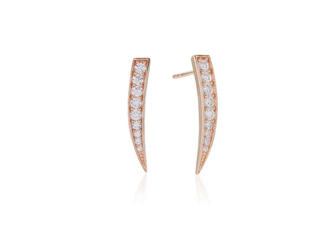 Sif Jakobs - Pila Rose Gold Graduated White CZ Earrings SJ-E1010-CZ 4003301