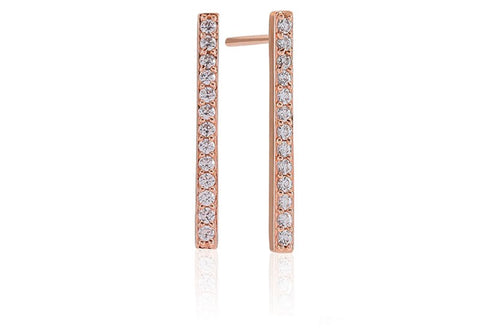 Sif Jakobs - Siena Rose Gold with White CZ Earrings SJ-E1011-CZ 4003305