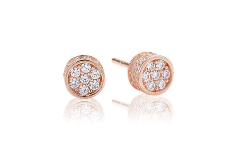 Sif Jakobs - Portici Rose Gold with White CZ Earrings SJ-E2161-CZ 4003235