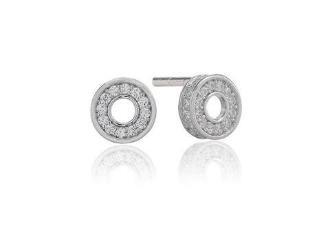Sif Jakobs - Portici Ciclo Sterling Silver with White CZ Earrings SJ-E2186-CZ 4003237