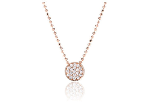 Sif Jakobs - Portici Rose Gold with White CZ Pendant Necklace SJ-P3326-CZ(RG) 4010261