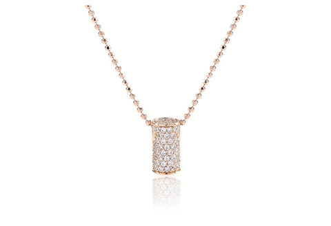 Sif Jakobs - Portici Circolare Rose Gold with White CZ Pendant Necklace SJ-P3333-CZ(RG) 4010265