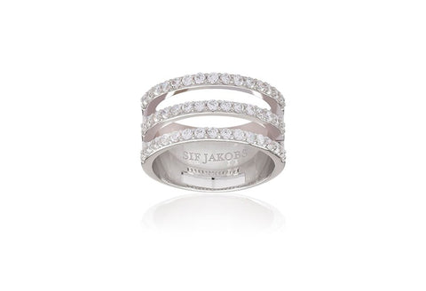 Sif Jakobs - Siena Tre with White CZ Ring SJ-R11000-CZ 4002419