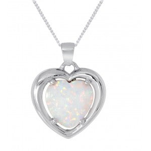 Expressions - Sterling Silver White Synthetic Opal Pendant 0402180