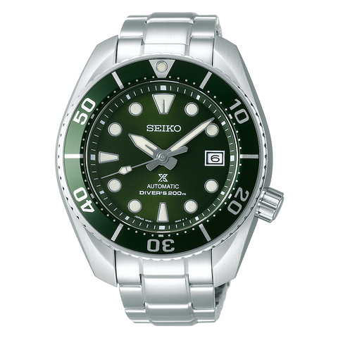 Seiko Prospex Green Dial & Bezel Stainless Steel Divers Watch SPB103J1