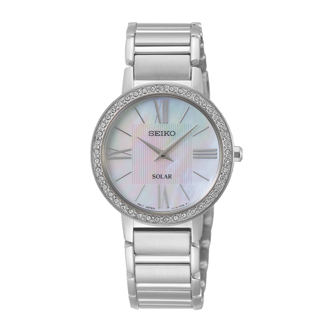 Seiko Ladies Solar Stainless Steel Bracelet Watch SUP431P1