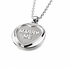 Love Hearts - Sterling Silver Marry Me Necklace SP1461CB