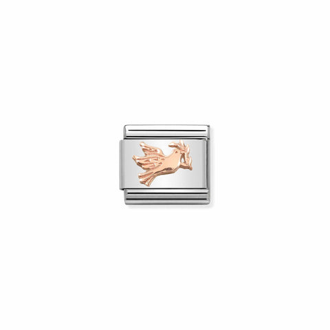 Nomination 9ct Rose Gold Dove Charm 430106 17